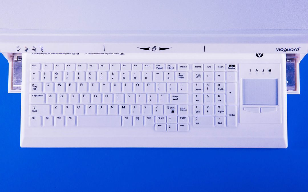 Vioguard ultraviolet keyboard proven to eradicate Ebola, flu and C. diff